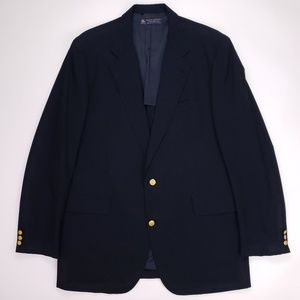 Brooks Brothers Blue Blazer 44XLG Navy Wool 2 Butt